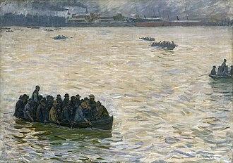 Leopold Graf von Kalckreuth - Image: Leopold von Kalckreuth Feierabend der Hafenarbeiter (1894)