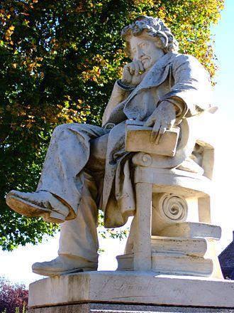 Pierre Leroux - Statue of Pierre Leroux at Boussac.