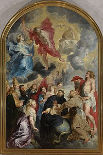 <i>Saints Dominic and Francis Saving the World from Christs Anger</i> painting by Peter Paul Rubens