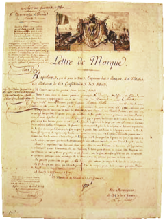 Letter of marque governmental authorization of privateering