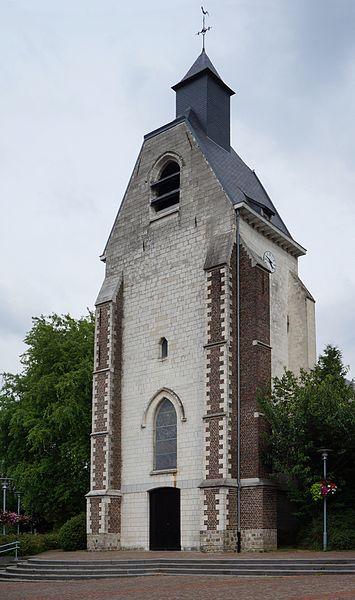 L'église saint Eloi de Lezennes  xiie siècle Nord (département français).