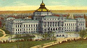 Main Library of Congress building at the start...