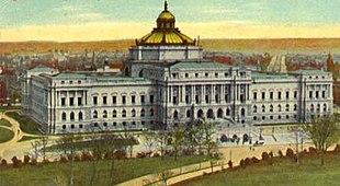 Edificio principale della Library of Congress all'inizio del XX secolo