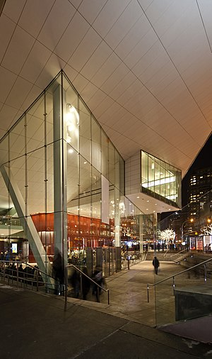 Alice Tully Hall - The new outdoor plaza and entry to Alice Tully Hall.