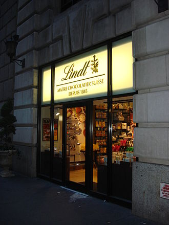 Lindt & Sprüngli - Lindt shop and cafe in New York City