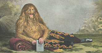Stephan Bibrowski - Lionel the Lion-faced Man at the age of 17 (1907)