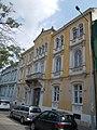 Listed dwelling house ID 3925. Romantic, circa 1860, by Miklós Ybl. - 10, Vörösmarty Square., Székesfehérvár, Fejér county, Hungary.JPG