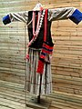 Lisu woman hemp, shell-ornamented dress - Yunnan Nationalities Museum - DSC04309.JPG