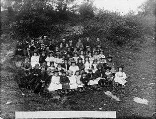 Llansannan children on Club day