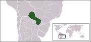 Localización de Paraguay
