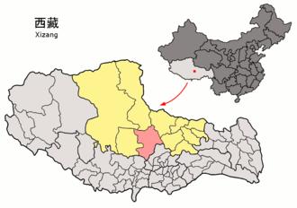 Baingoin County - Image: Location of Baingoin within Xizang (China)