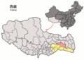 Location of Bomi within Xizang (China).png