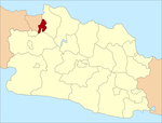 Location of Bekasi in West Java