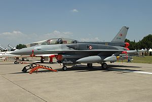 Çiğli - F-16D at Çiğli Air Base