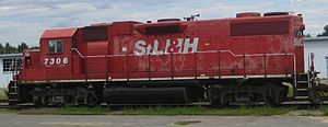 St. Lawrence and Hudson Railway - Image: Locomotive, Plattsburgh Air Force Base