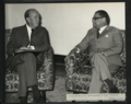 Lord James at the office of the Vice-Chancellor of Dacca University, November 1970.png