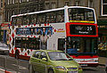 Lothian Buses bus Dennis Trident Plaxton President Harlequin livery route 25 May 2009.jpg