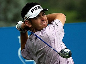 English: South African golfer Louis Oosthuizen...