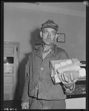 Pittsburgh Coal Company - Coal miner Louis Shafer, Pittsburgh Coal Company (1946).