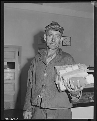 Pittsburgh Coal Company - Coal miner Louis Shafer, Pittsburgh Coal Company (1946).