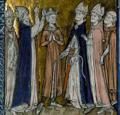 Louis VI fut hâtivement couronné à Orléans le 2 août 1108 par l'archevêque de Sens Daimbert.png