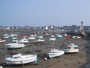 Roscoff - Image: Low tide in Brittany