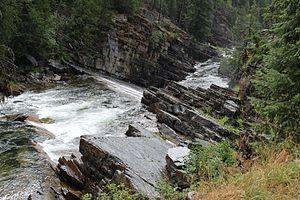 Yaak River - Image: Lower Yaak Falls on the Yaak River