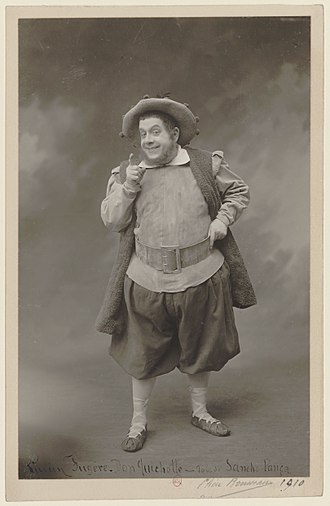 Don Quichotte - Lucien Fugère as Sancho, Paris 1910.