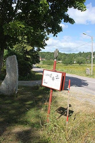 Runestones at Aspa - Image: Ludgo 61 2 och Ludgo 61 1