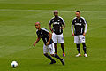 Luke Moore Leroy Lita Stephen Dobbie Swansea City warm up.jpg