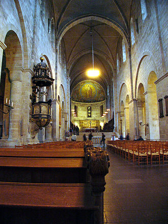 Lund Cathedral - Inner view of the Cathedral, from the entrance towards the high altar.