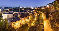 Luxembourg City Night Wikimedia Commons.jpg