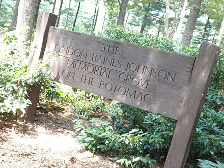 Entrance to the Lyndon Baines Johnson Memorial Grove on the Potomac Lyndon B Johnson Memorial.jpg