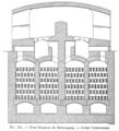 Métallurgie du zinc - Coupe transversale d'un four belge à régénérateur Siemens de Birkengang (p. 512).png