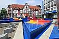 Mülheim adR - Synagogenplatz - Hajek-Brunnen + Alte Post 01 ies.jpg