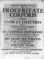 "M. Weise ""De proceritate corporis"", 1726; title page Wellcome L0012927.jpg"