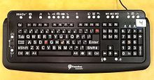 MAGic Large Print This MAGic large-print keyboard has tactile elements and special keys for the visually impaired