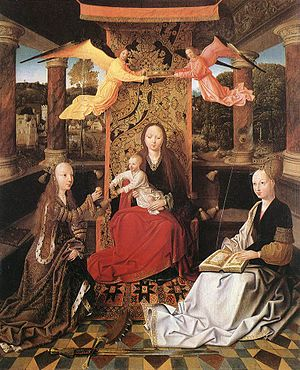 Master of Hoogstraeten - Image: MASTER of Hoogstraeten, Madonna and Child with Sts Catherine and Barbara