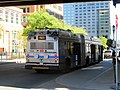 MBTA route SL1 bus on Congress Street at World Trade Center, September 2015.JPG