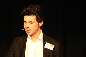 Toby Manhire - Manhire in 2012 as host of the New Zealand Open Source Awards