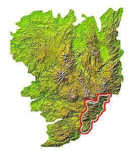 Location in the Massif Central