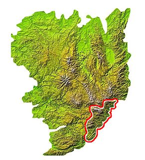 Cévennes Mountain range in France