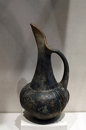 Bucchero - Oinochoe from the Metropolitan Museum of Art (inv. 91.1.454)