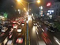 M G Road from foot overbridge in front of Treasure Island, Indore.jpg