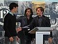 Madrid rinde homenaje al campeón de motociclismo Ángel Nieto (06) - Gelete, Pablo y Hugo Nieto.jpg