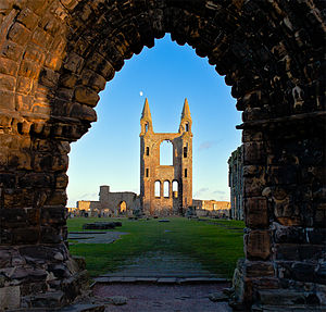 Early music of the British Isles - St Andrews Cathedral, associated with the important 13th century 'Wolfenbüttel 677' manuscript