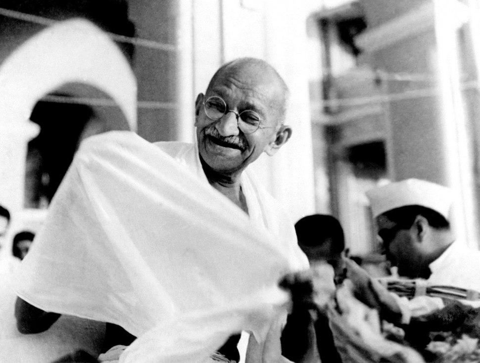 Mahatma Gandhi laughing.jpeg