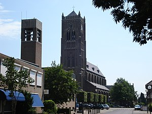 Mill en Sint Hubert - Image: Mairie de 'Mill en Sint Hubert' à coté de l'église de Mill