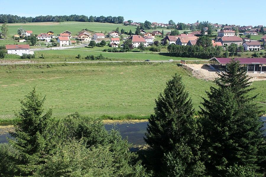 Vue de Maisons-du-Bois (Doubs).