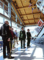 Maj. Gen. Raymond F. Rees (left), Adjutant General, Oregon, looks over a Coast Guard motor lifeboat display at the Columbia River Maritime Museum.jpg